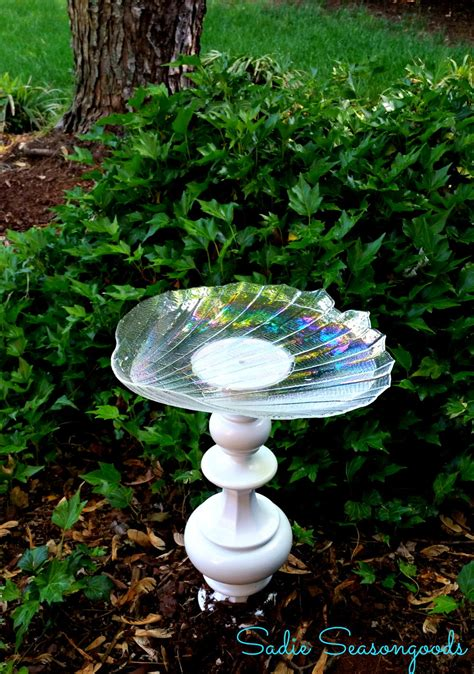 bright idea recycled birdbath allfreeholidaycraftscom