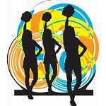Cheerleader Topics Social Graphics Kader 4vector Vektorillustration