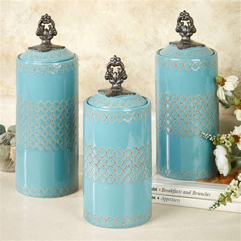 canister kitchen set safiya turquoise kitchen canister set
