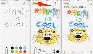 How To Use The Drawing Tools In Notes For Iphone  U0026 Ipad