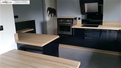 plan de travail cuisine cuisinella cuisine noir laque chaios com