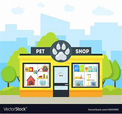 Pet Cartoon Building Vector Animal Background Royalty