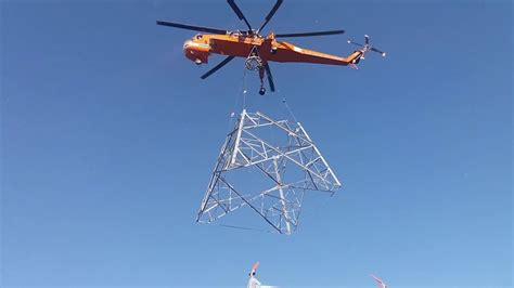 Erickson air crane lifting tower and power grid ...