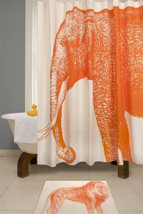 elephant shower curtain 37 funky bathroom shower curtains ultimate home ideas