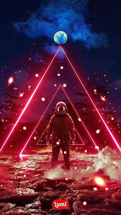 Astronaut Iphone Cosmos Vaporwave Sunset Iphoneswallpapers Wallpapers