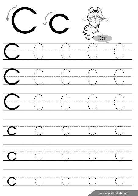 letter  tracing worksheet  esl teachers alphabet
