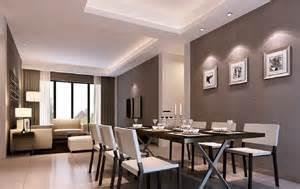 livingroom restaurant living dining room together in minimalist style 3d house