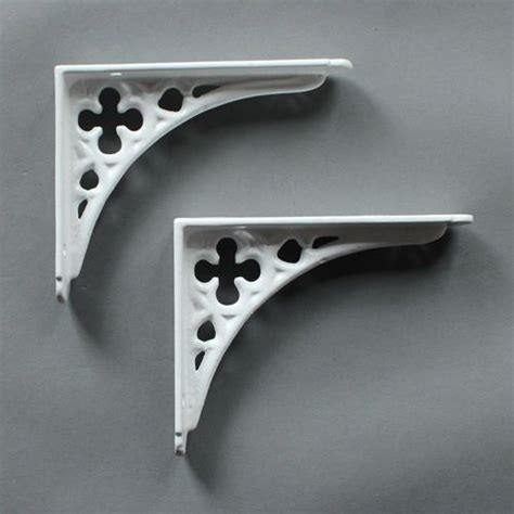 Small White Shelf by Pair Of White Small Cast Iron Shelf Brackets