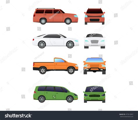 Different Car Vehicle Transport Type Design Stock Vector