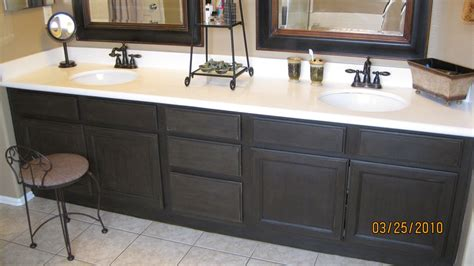 How To Refinish Bathroom Cabinets With Paint bathroom vanity stain or paint epiphone texan refinish