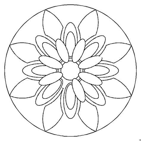 mandala blumenblaetter ausmalbild malvorlage mandalas