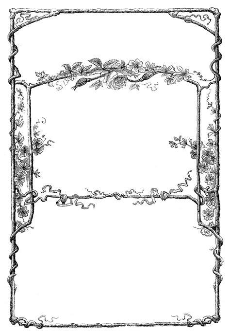 vintage clip art amazing faux bois frames  graphics fairy