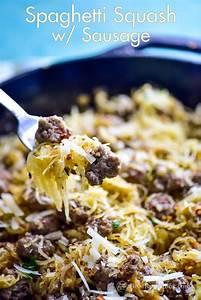 Spaghetti Squash Recipe With Sausage Parmesan