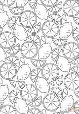 Coloring Pattern Lemon Printable Supercoloring Paper Categories sketch template