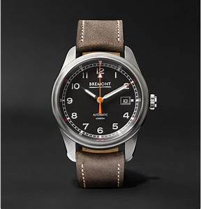 Bremont Airco Mach 1 Automatic Chronometer 40mm Stainless Steel And Leather Watch in Black for ...