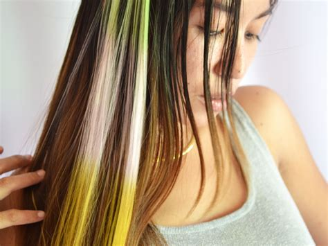 hair color streaks how to make clip on hair streaks 9 steps with pictures