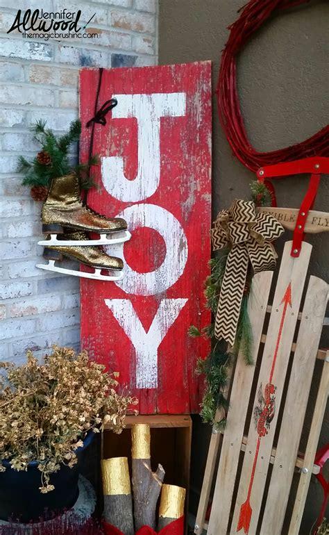 paint  barnwood sign  christmas