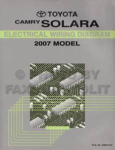 Toyota Camry Solara Wiring Diagram Manual Original
