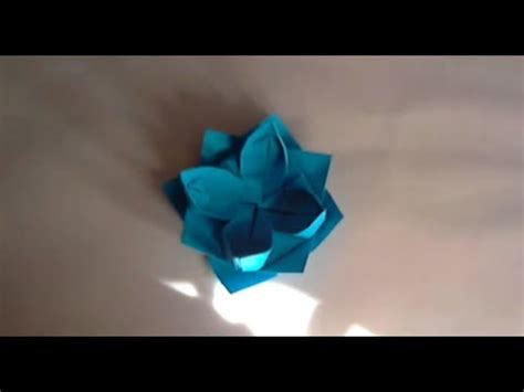 origami fleur de lotus