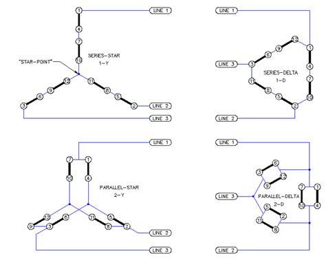 Part Winding Motor Starter Wiring by Weg Part Winding Start Wiring Diagram 12 Lead