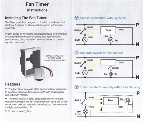 Minute Delayed Timer For Axial Exhaust Fans