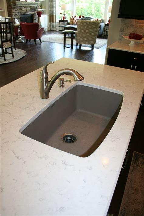 quartz countertop  single bowl blanco truffle sink