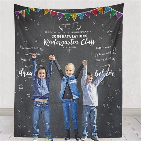 kindergarten graduation backdrop kindergarten graduation 543 | il fullxfull.1233269035 871m