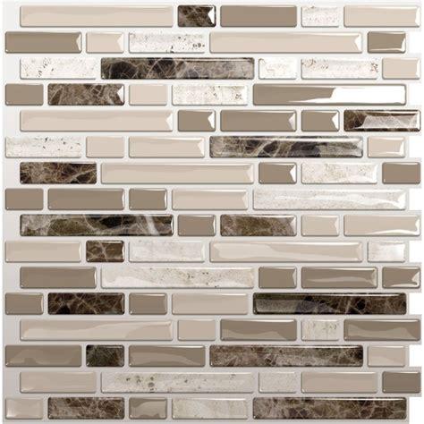 shop smart tiles white beige brown composite vinyl