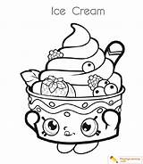 Coloring Ice Cream Cup Pages Shopkins Print Sheet Date Blogx Info sketch template