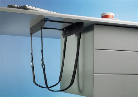 under desk laptop holder under desk pc cpu 42 holder straps mount bracket new ebay
