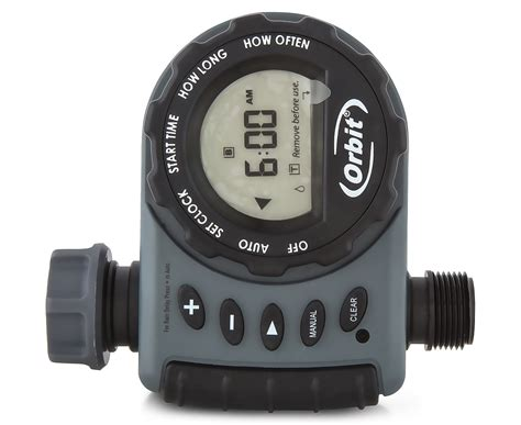 Orbit Hose Faucet Timer Wont Turn by Orbit 1 Outlet Hose Faucet Timer Grey Black Ebay