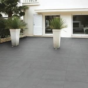 Carrelage Terrasse Gris : carrelage terrasse concreta 45 x 45 cm am nagement ext rieur par chausson mat riaux ~ Nature-et-papiers.com Idées de Décoration