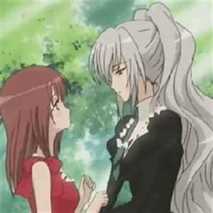 Strawberry Panic kiss- Shizuma & Nagisa | Pinterest