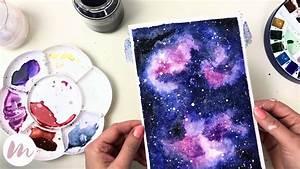 Mit Wasserfarbe Malen : galaxie malen modernes aquarell youtube ~ Watch28wear.com Haus und Dekorationen