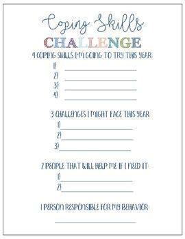 coping skills challenge worksheet coping skills
