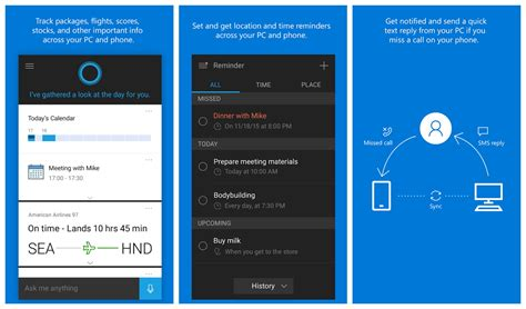 cortana app for android cortana update brings android notifications to windows 10