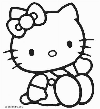 Hello Coloring Pages Kitty Printable Colouring Cool2bkids