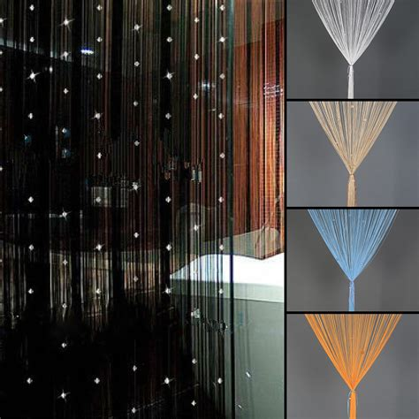 beaded string curtain door divider crystal beads tassel
