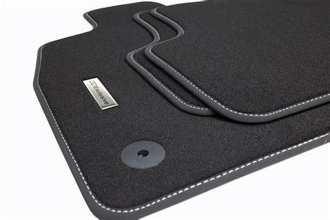tapis de sol pour voiture et logo en acier inoxydable pour vw golf 7 vii berline combi tapis de
