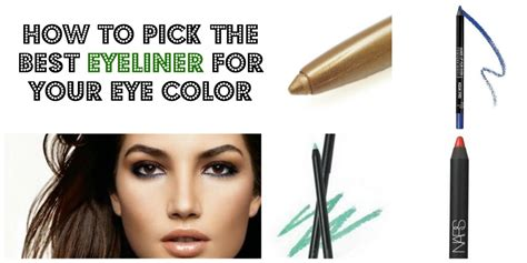 How To Pick The Best Eyeliner Color For Your Eyes