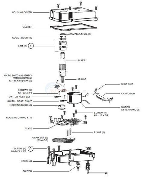 hayward goldline valve actuators parts inyopools