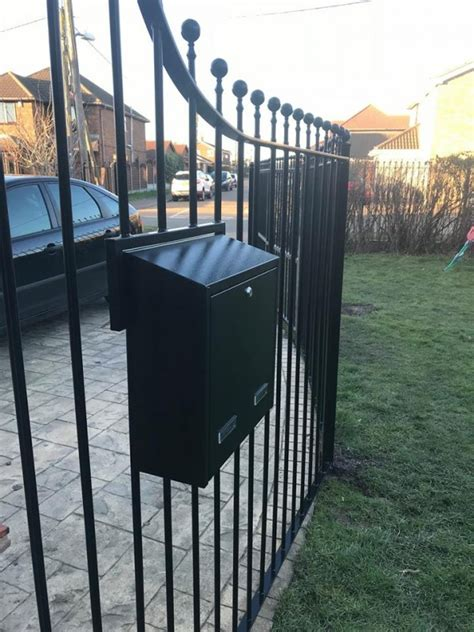 gate post box individual rear access letterboxes