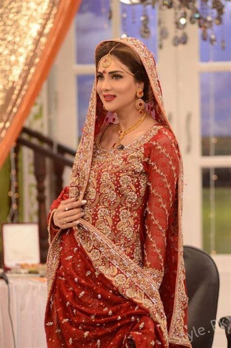 fiza ali  bridal dresses  good morning pakistan latest bridal fashion