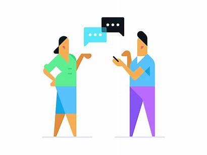 Chatting Illustration App Icon Smalltalk Invite Dribbble
