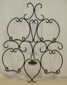 partylite retired wall sconce plate  towel rack