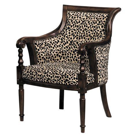 Lena Animal Print Barrel Back Chair Home Decor Accent