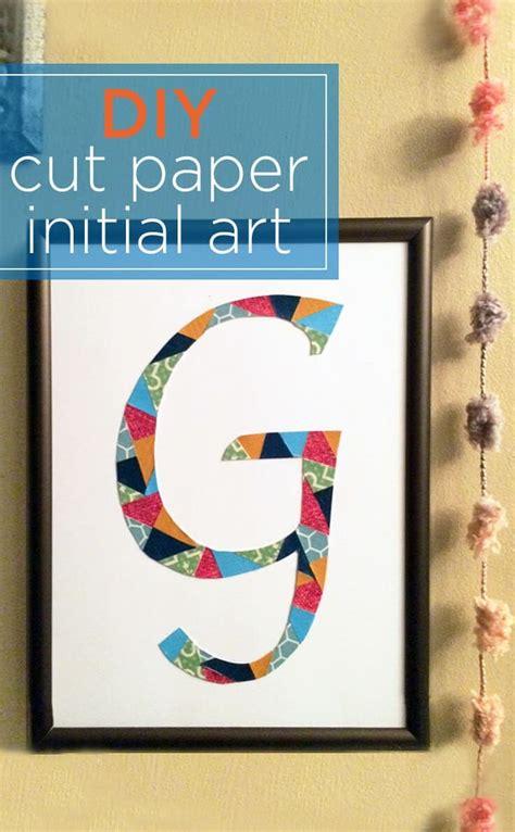 monogram wall art diy initial craft   cut paper