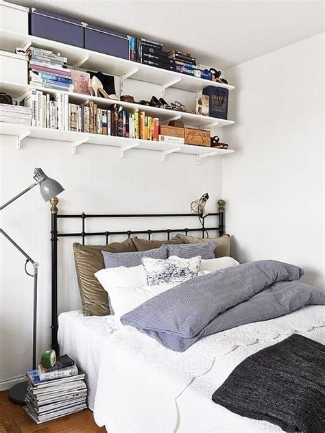 smart storage ideas for tiny bedrooms shelterness 25 smart storage ideas for tiny bedrooms shelterness 25 | 25 wall mounted shelves under the ceiling to save some space