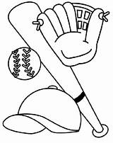 Baseball Coloring Bat Glove Hat Quilt Craft Sport Bats Patterns sketch template