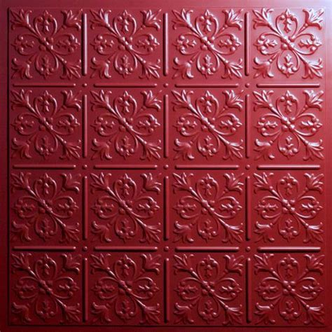 Ceilume Ceiling Tiles by Fleur De Lis Merlot Ceiling Tiles